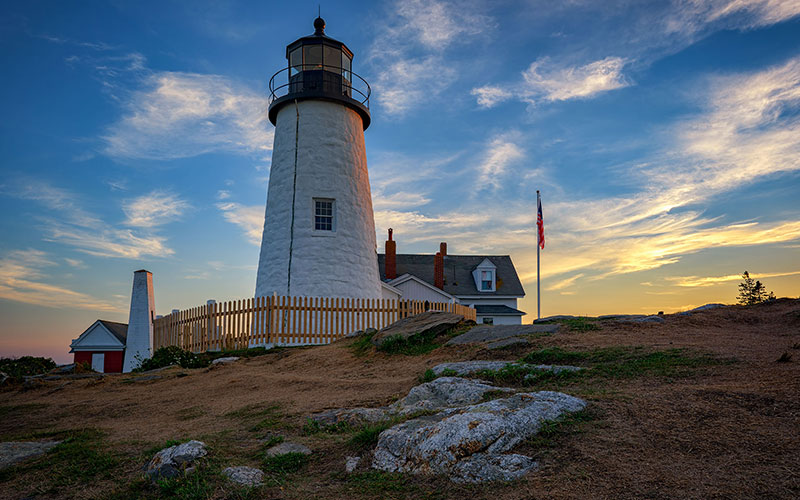 Lobster Light Houses Pemequid Point Lighthouse Kendall Tavern Inn BB | Freeport Maine